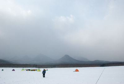 nukabira winter fishing in tents