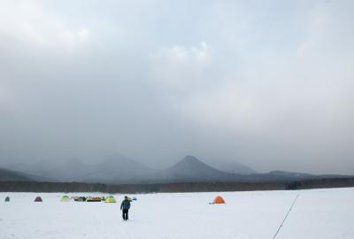 nukabira winter fishing in tents