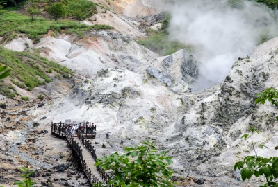 noboribetsu hell valley Jigokudani hokkaido japan