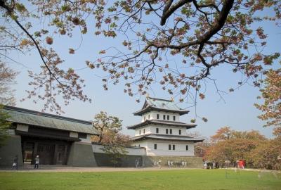 matsumae castle in spring