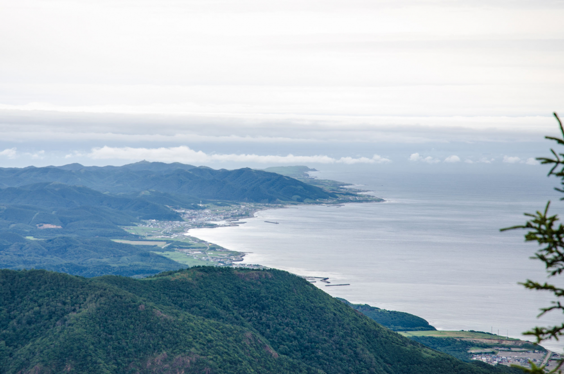 the view from the top of Apoi Dake on Hokkaido's central south coast