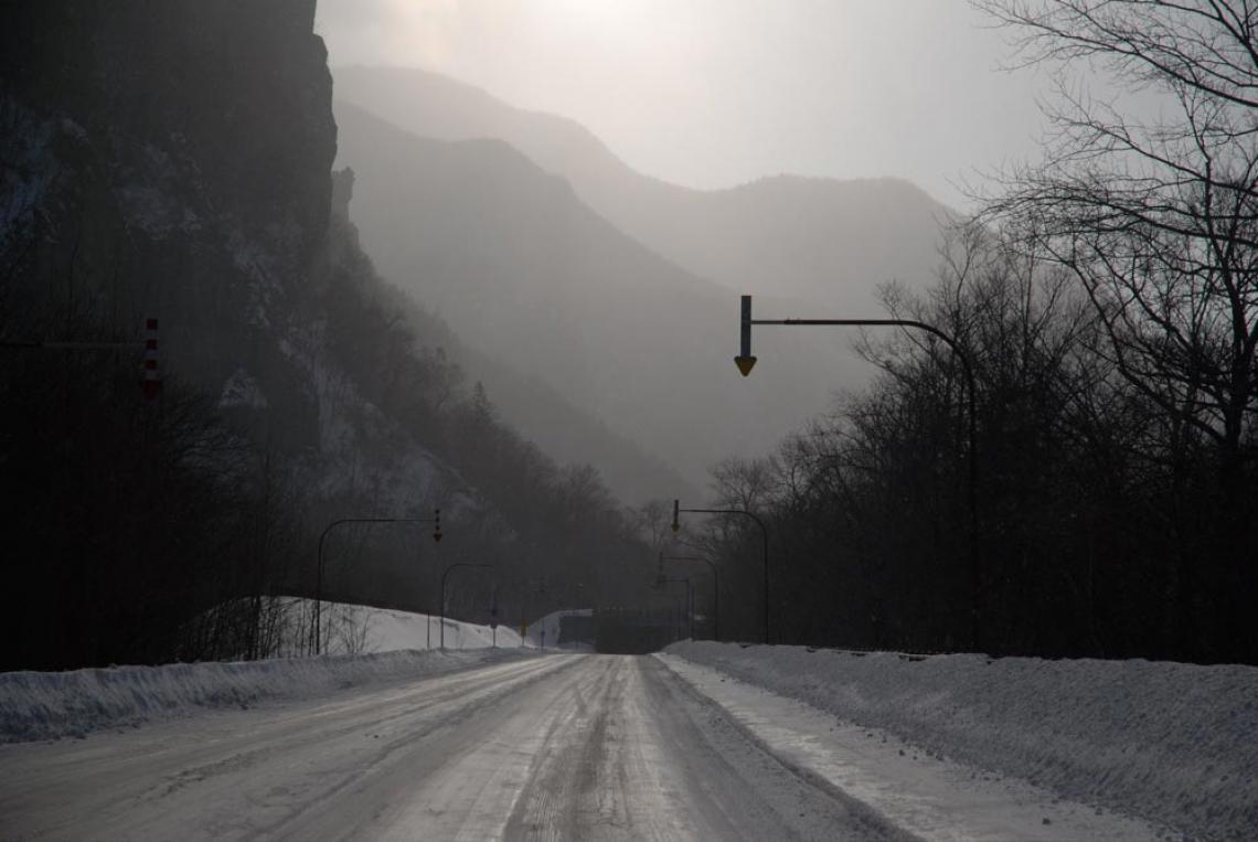 the beautiful drive to Sounkyo, Hokkaido